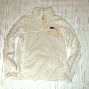 Cream and White Patagonia Sweatshirt